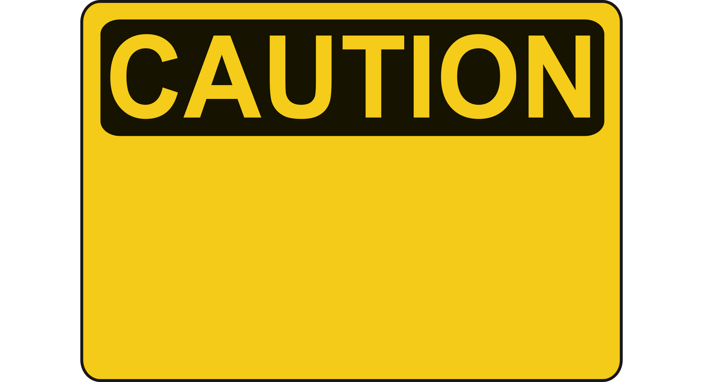 Blank big image png. Caution clipart transparent