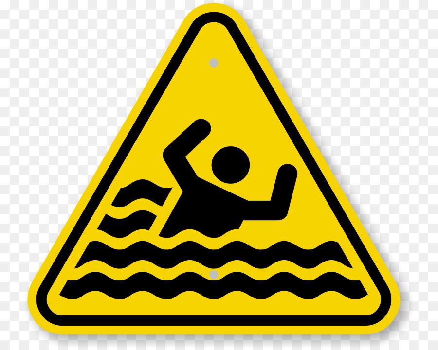 Caution clipart transparent. Warning sign drowning symbol