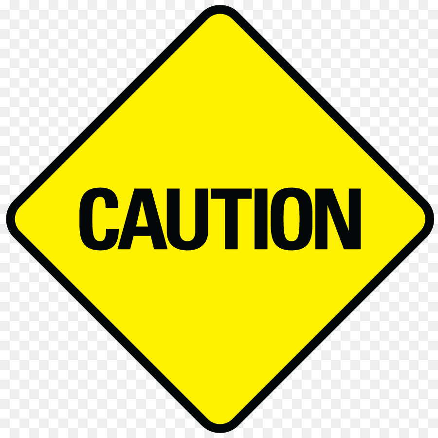 Warning sign traffic safety. Caution clipart transparent
