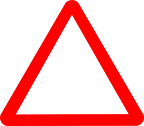 Caution clipart triangle. Red warning clip art
