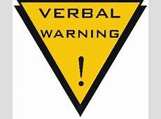 Clip art . Caution clipart verbal warning