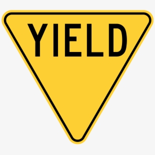Caution clipart verbal warning. Yield sign free