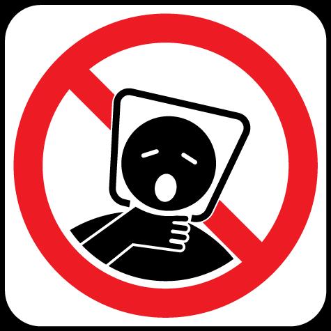 Significon suffocation hazard. Caution clipart verbal warning