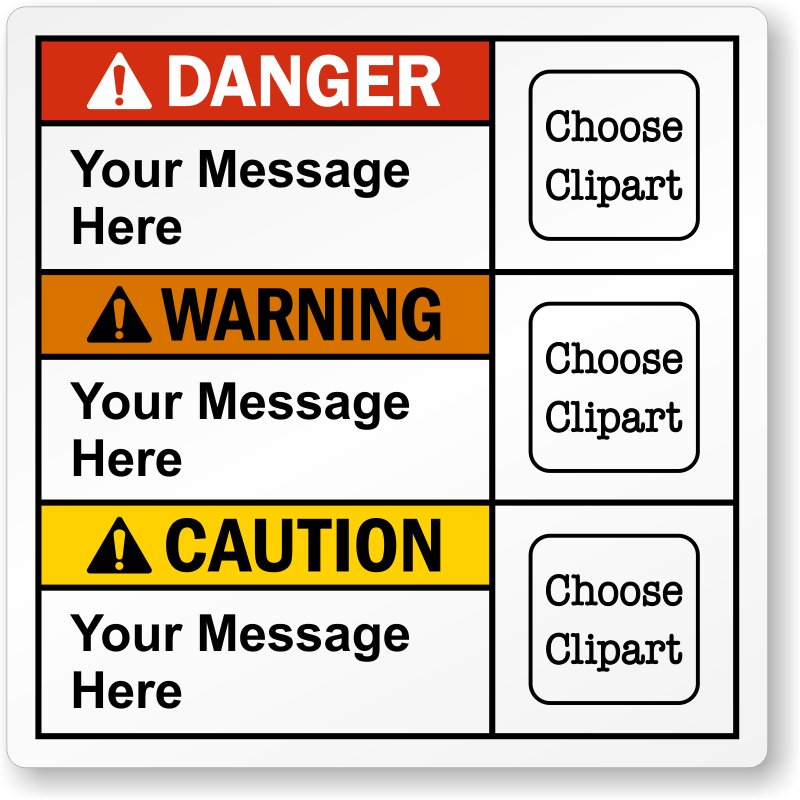 Custom danger ansi with. Caution clipart warning label