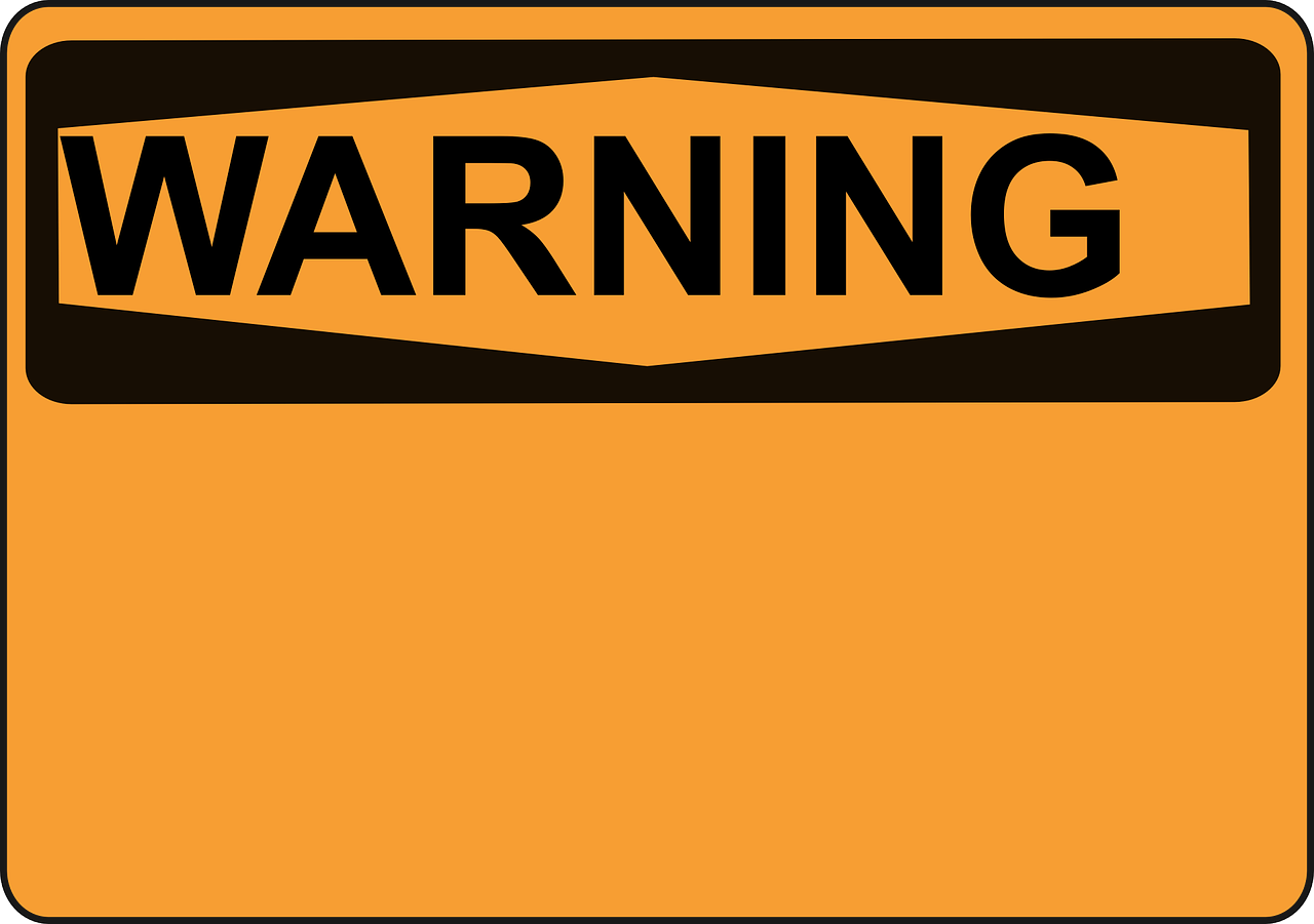 Cleaning signal words ecology. Caution clipart warning label