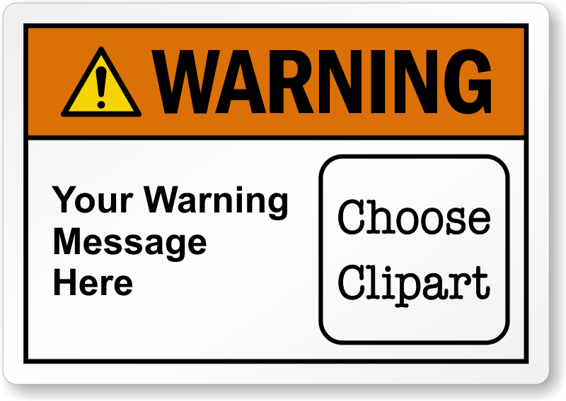 Caution clipart warning label. Custom labels designs with