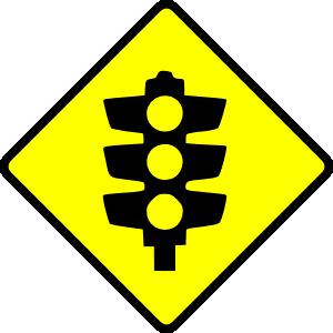 Traffic lights clip art. Caution clipart warning light
