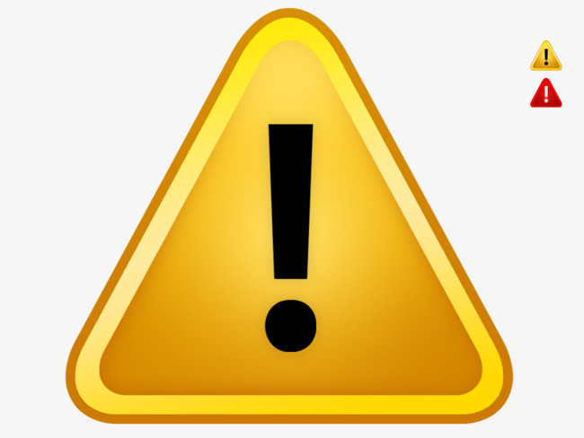 Caution clipart warning triangle. Yellow sign stock image