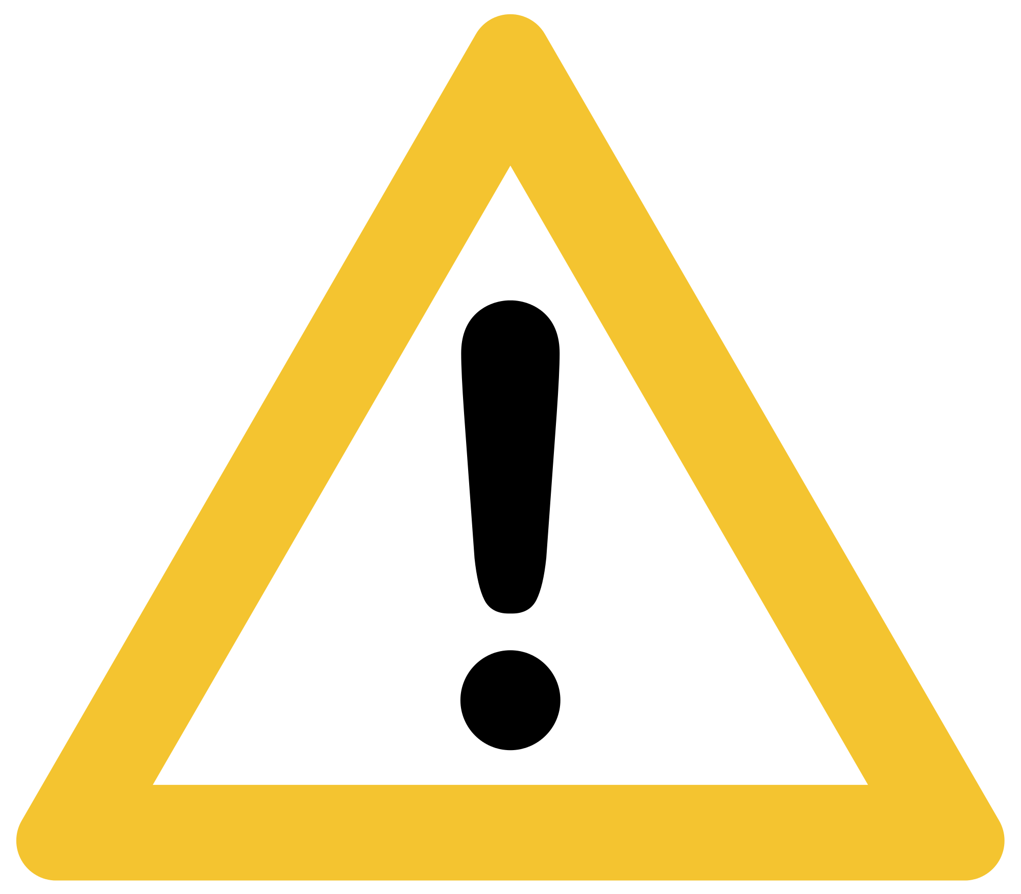 Caution clipart warning triangle. File achtung yellow svg