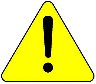 . Caution clipart warning triangle