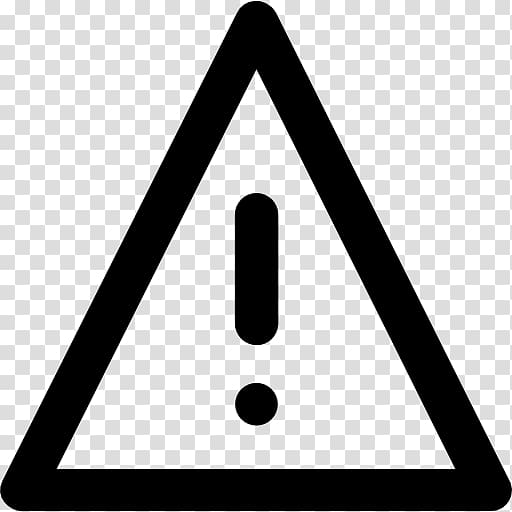 Exclamation mark sign interjection. Caution clipart warning triangle