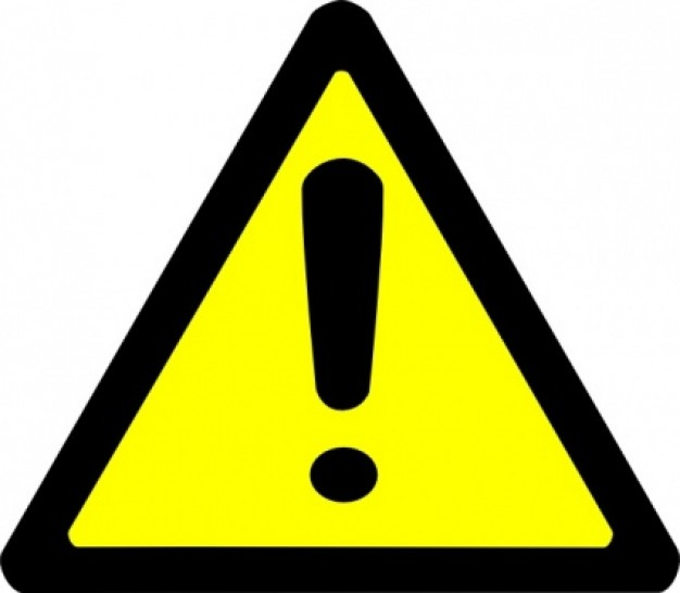 Sign panda free images. Caution clipart