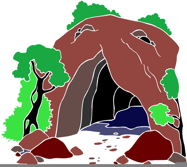 Bear in free images. Cave clipart