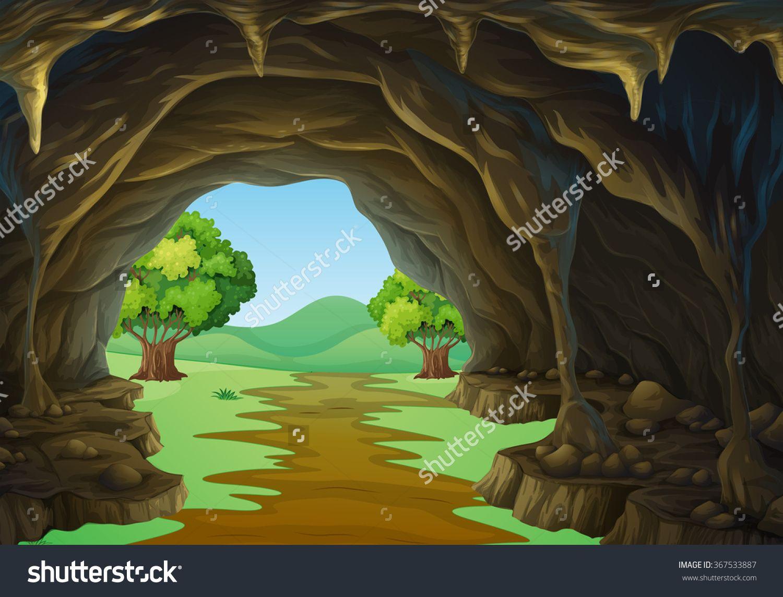 Bright idea inside a. Cave clipart