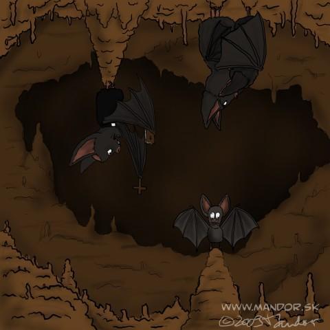 Exorcism by mandor religion. Cave clipart bat cave
