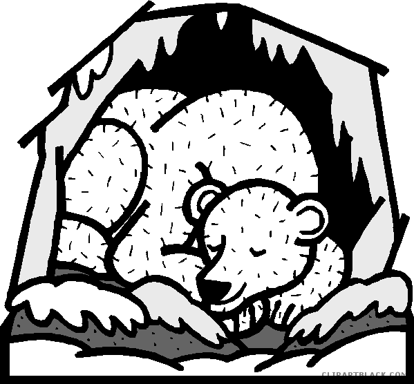 Clipartblack com animal free. Clipart bear cave