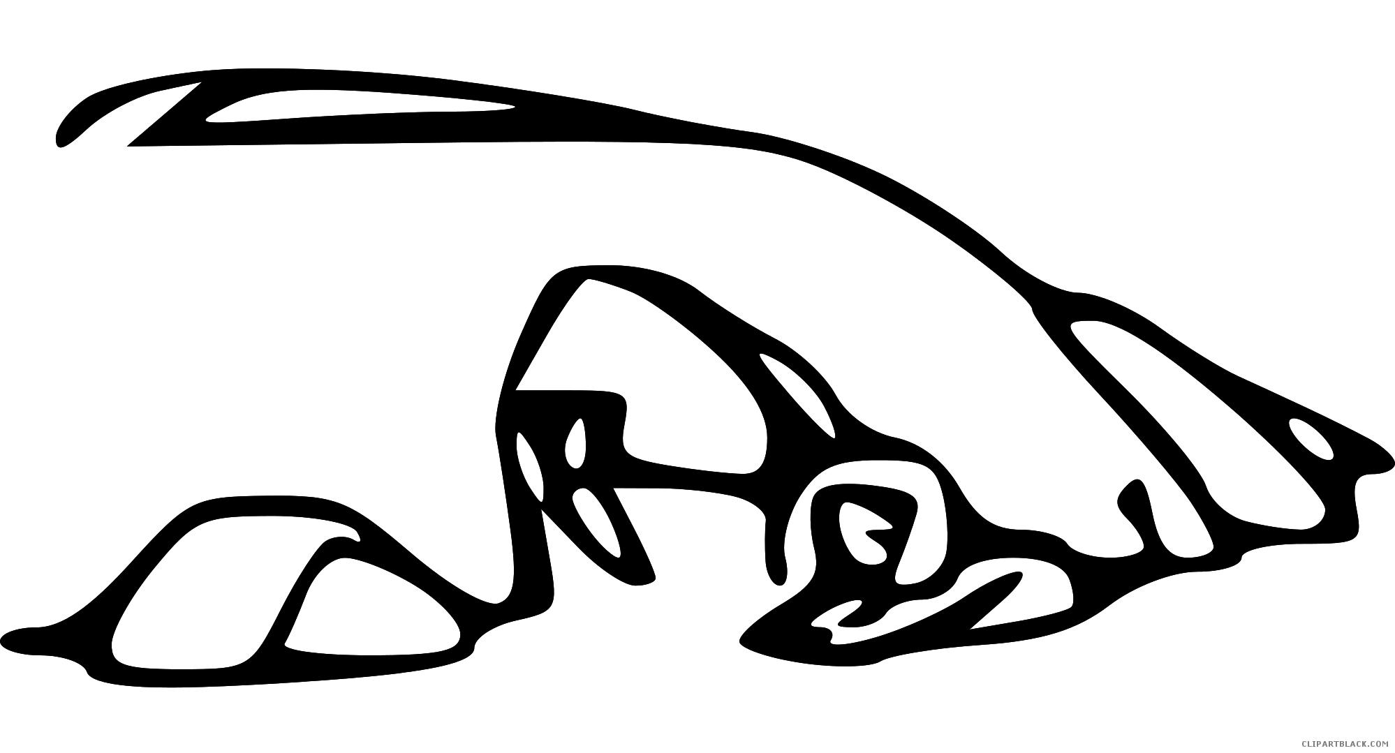 Bear clipartblack com animal. Cave clipart black and white