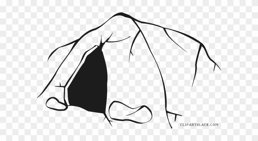 Cave clipart black and white. Png free