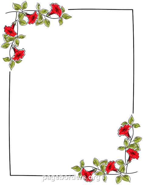 Cave clipart border. Printable floral use the
