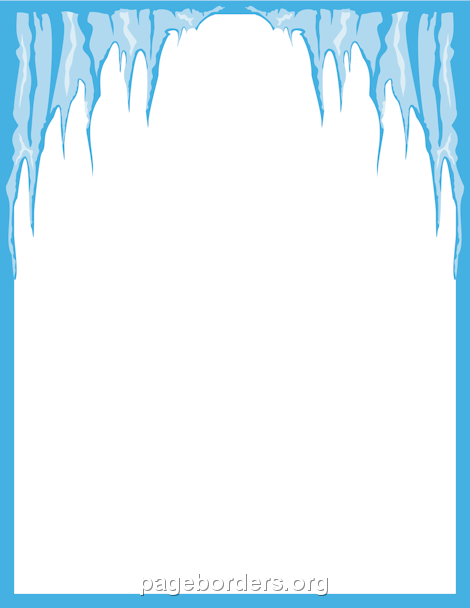 Cave clipart border. Free winter page borders