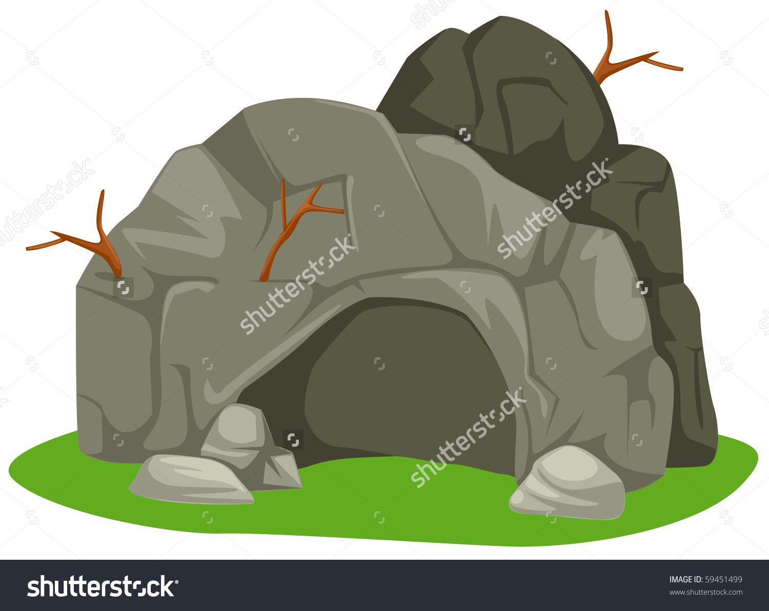 Cave clipart cartoon. Illustration of isolated on
