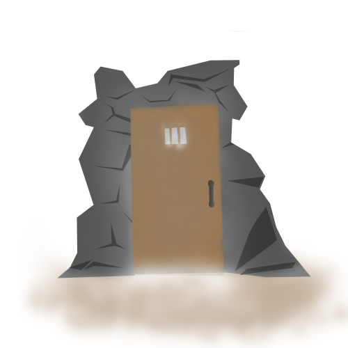 Cave clipart cave house. Generic door by dare
