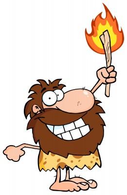 caveman clipart group