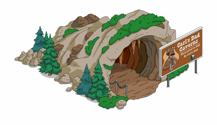 Cave clipart cavern. Simpsons free png images