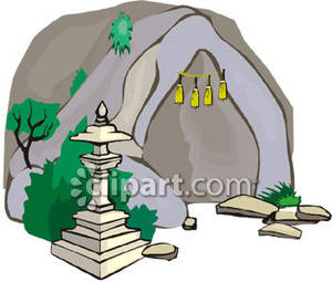 Cave clipart cavern. Chinese lantern at the