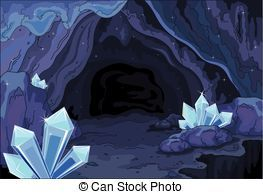 Cave clipart cavern. And stock illustrations vector
