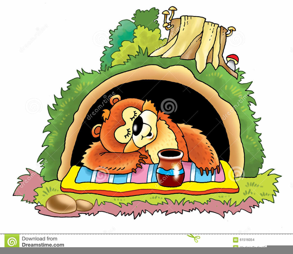Bear in free images. Cave clipart clip art