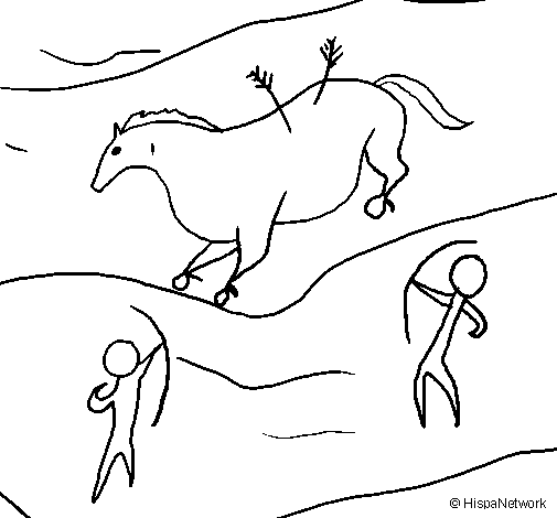 Cave clipart coloring page. Art sheets painting