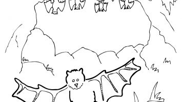 Cave clipart coloring page. Jack and jill pages