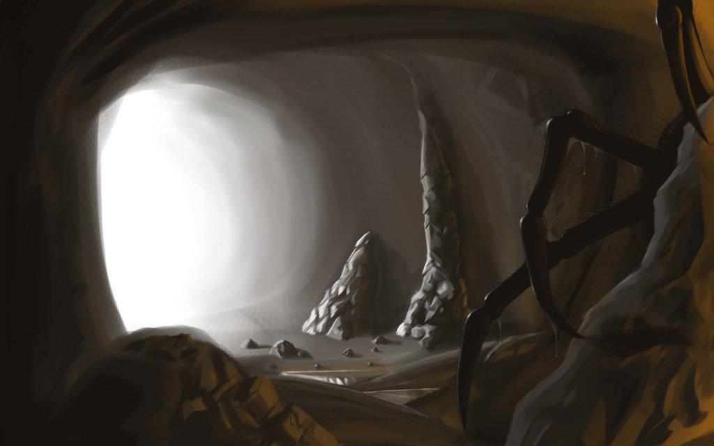 Cave clipart creepy. Peter pan my storybook
