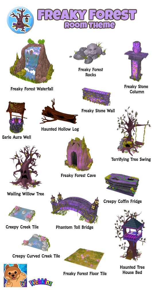 Freaky forest room theme. Cave clipart creepy