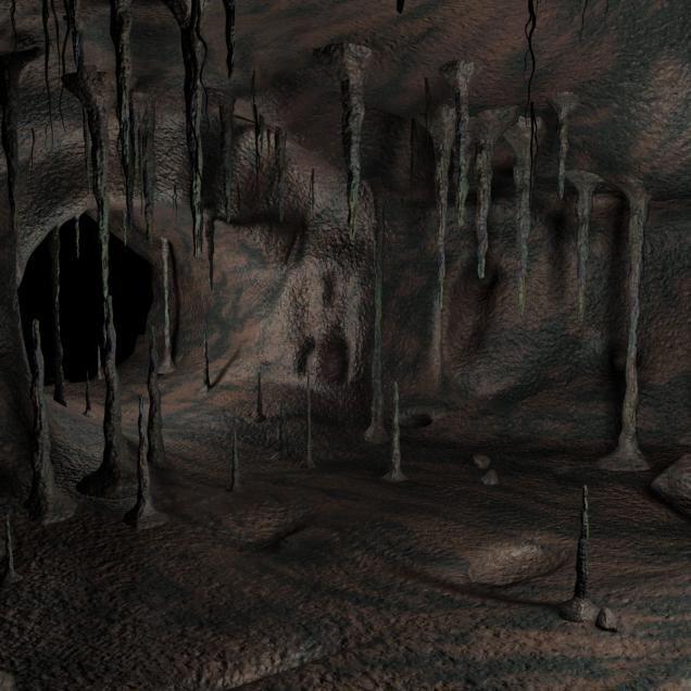 Caves d model of. Cave clipart creepy