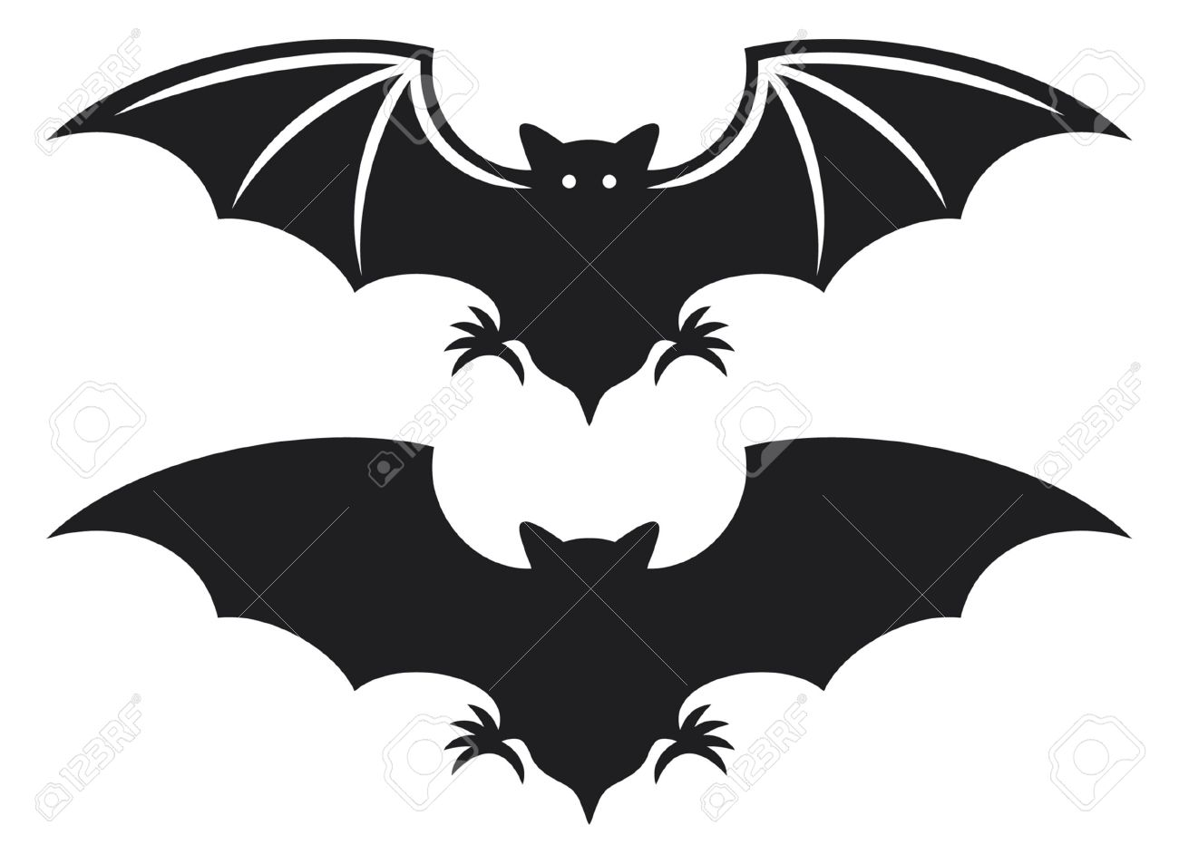Cave clipart dark cave. Bat collection cliparts stock