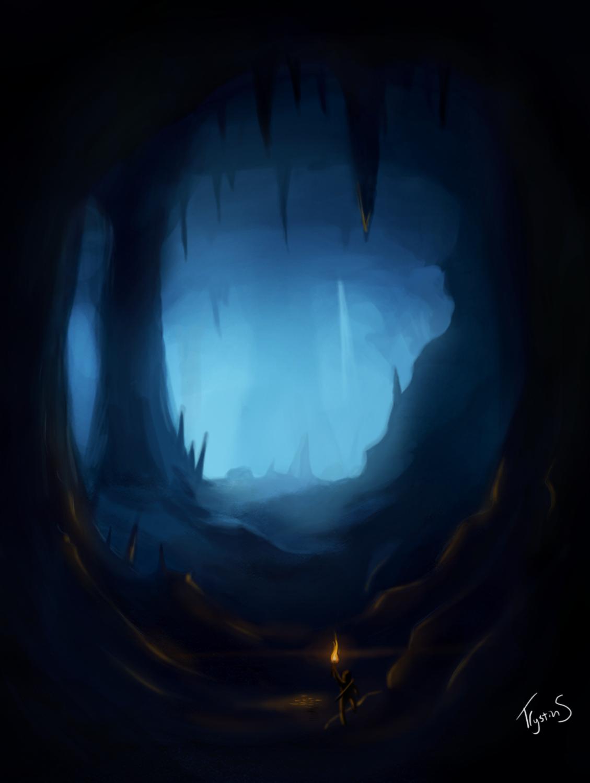 Cave clipart dark cave. Drawn cavern pencil and