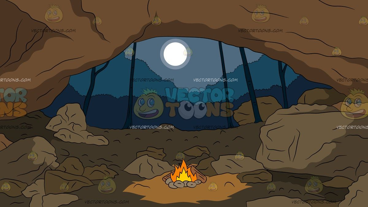 Inside a background view. Cave clipart forest cave