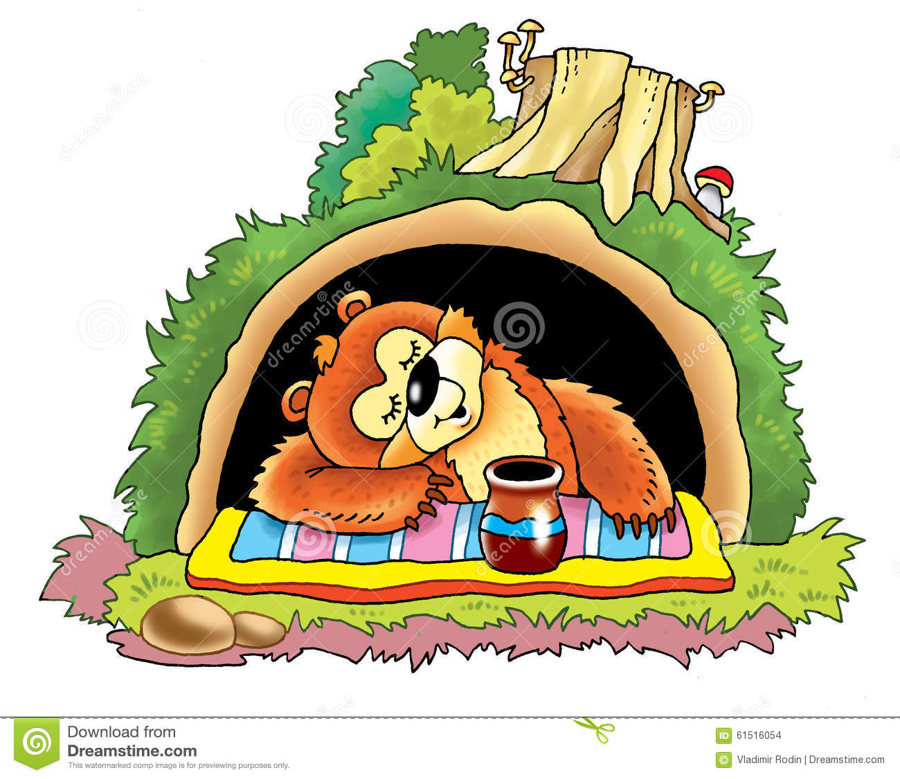 Cave clipart forest cave. Fox den pencil and