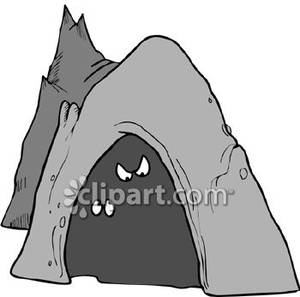 Cave clipart forest cave. Dark pencil and in