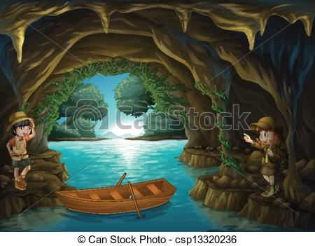 A . Cave clipart inside