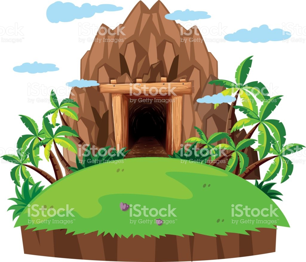 Mine pencil and in. Cave clipart jungle cave