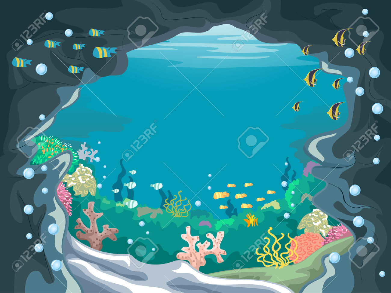 Water clipground underwater. Cave clipart jungle cave