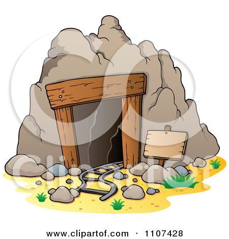 Clip art gold miner. Cave clipart mountain cave