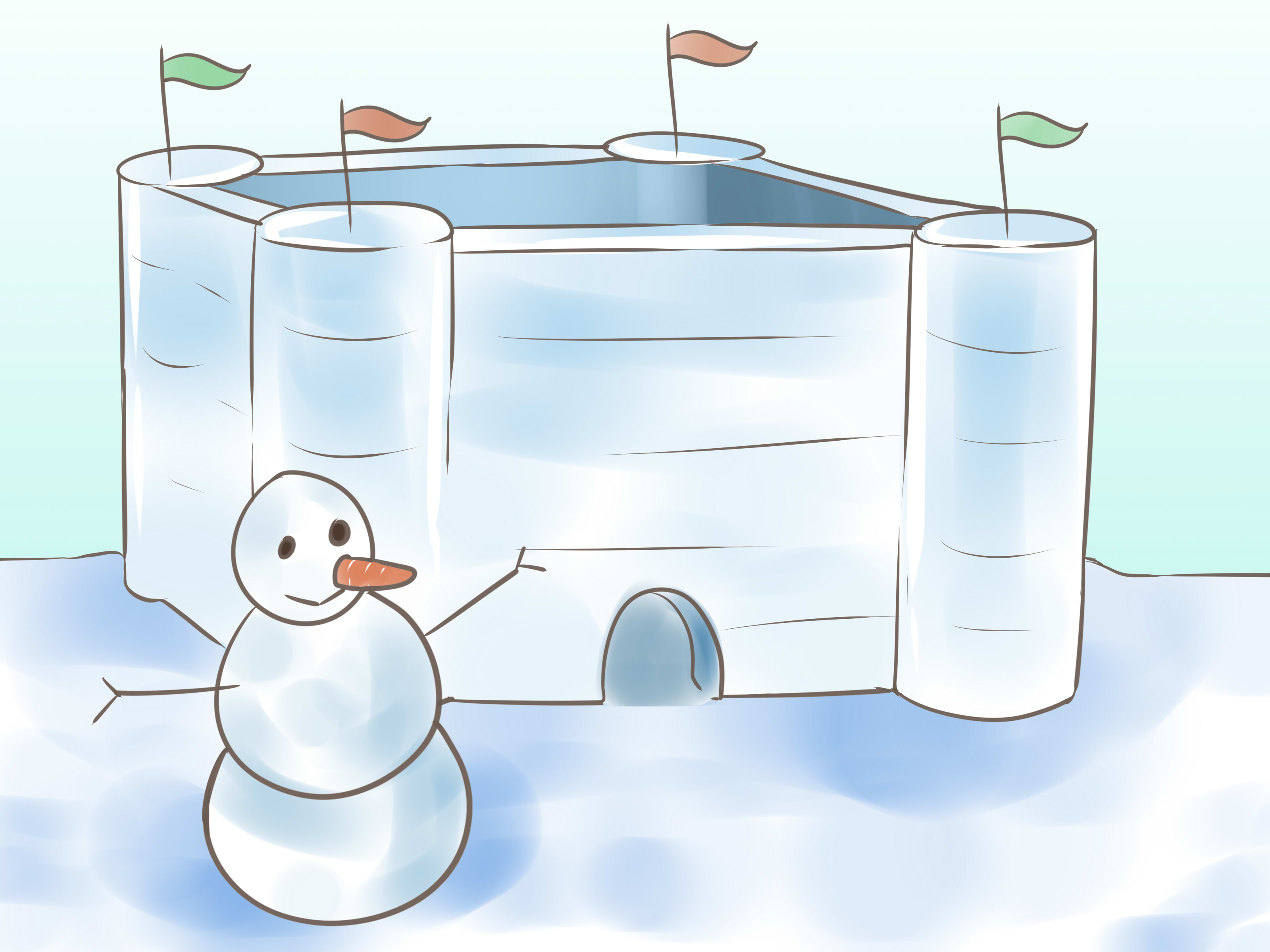 Cave clipart snow cave. How to build a