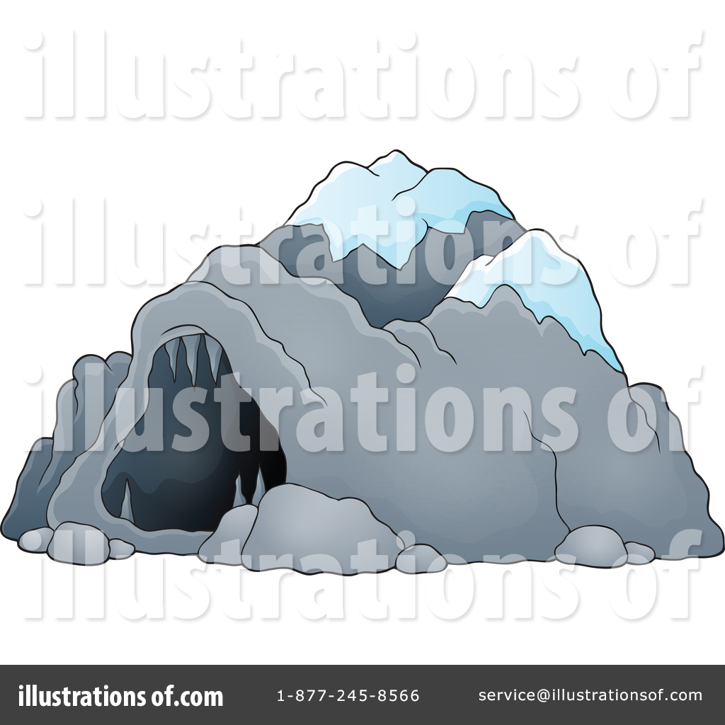 Illustration by visekart . Cave clipart snow cave