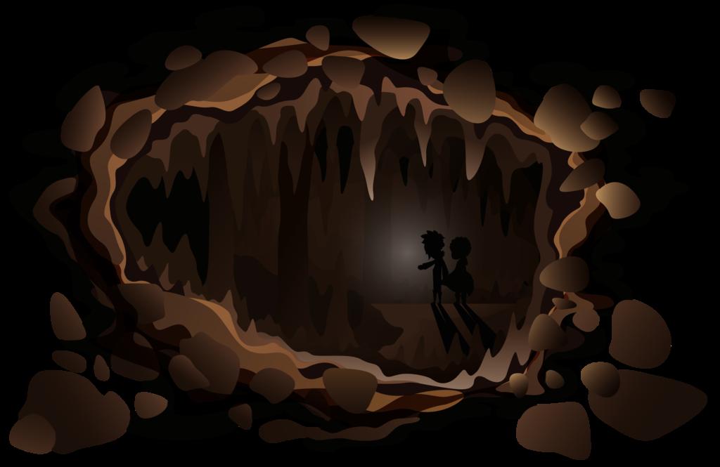 Cave clipart transparent. Ink by damag d