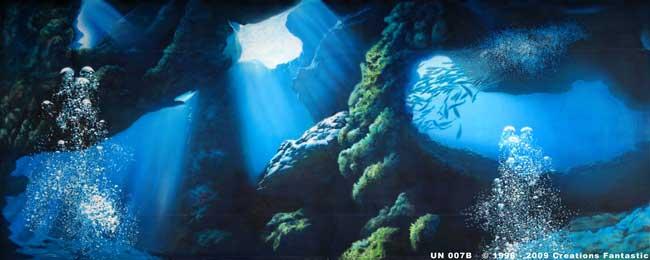 Cave clipart under sea. Backdrop un b undersea