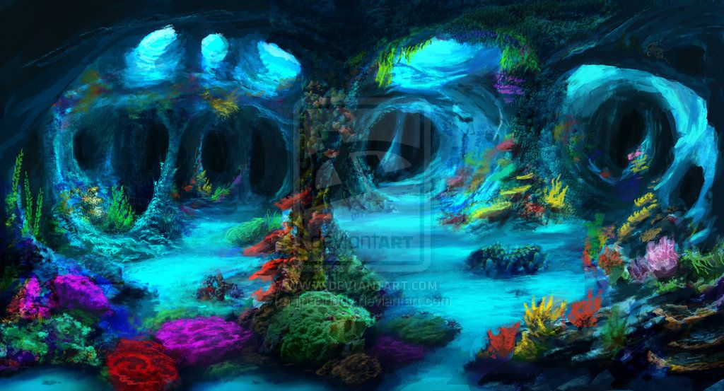 Cave clipart underwater cave. Caves commission by jjpeabody